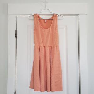 Light Orange Knee Length Dress